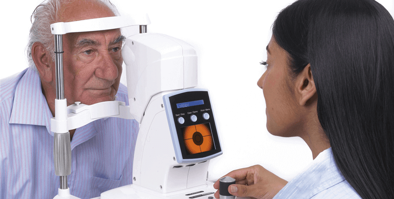 what optometry practice uses a non-contact tonometer
